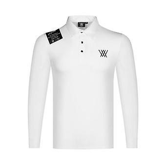 Nowe Wiosna Mężczyźni Golf Odzież z długim rękawem