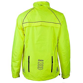 Eigo Delta Waterproof Cycling Jacket Fluo Yellow