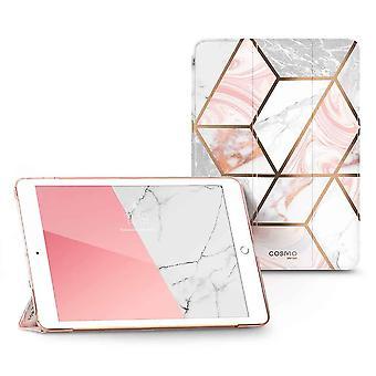 COSMO Lite Boekmodel Hoes iPad 7 (2019) / iPad 8 (2020) / iPad 9 (2021) - 10.2 inch - Marble Wit