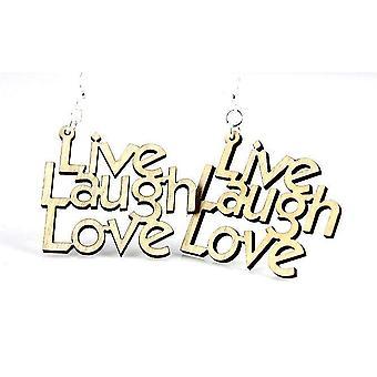 Boucles d'oreilles Live Laugh Love
