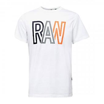 G-Star Raw  Logo T-Shirt White D19216 336