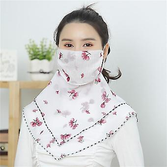Neck Cover Thin And Breathable Chiffon Triangle Scarf