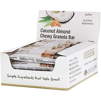 California Gold Nutrition, Foods, Coconut Almond Chewy Granola Bars, 12 Bars, 1.4 oz (40 g) Each