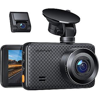 Dual Dash Cam, 1520P max, Support 128GB, Front and Rear Camera for Cars