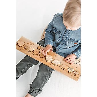 Child Montessori Wooden's Educational Solar System