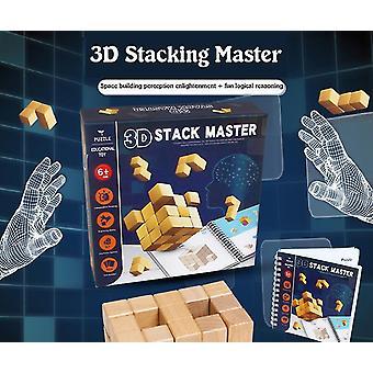 3d Stacking Master, Dzieci & s Puzzle 3d Układanie Building Block Gra, Rozwój Mózgu Intelligence Splicing Zabawki dla chłopców i dziewcząt, Odpowiednie Fo