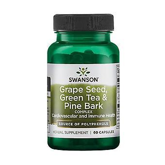 Grape Seed, Green Tea & Pine Bark Complex 60 capsules