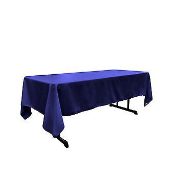 La Leinen Polyester Poplin rechteckige Tischdecke, 60 von 120-Zoll, Königsblau