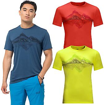 Jack Wolfskin 2021 Mens Crosstrail Graphic Moisture Wicking Lichtgewicht T-shirt