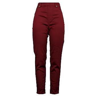 DG2 af Diane Gilman Women's Pants Stretch 5-Pocket Red 718-482