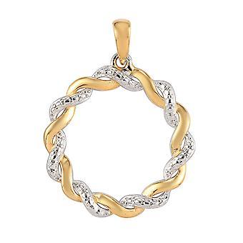 Cirkel hanger voor vrouwen in platina en vergulde zilveren partyware sieraden
