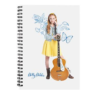 Holly Hobbie Blue Butterfly Silhouette Spiral Notebook