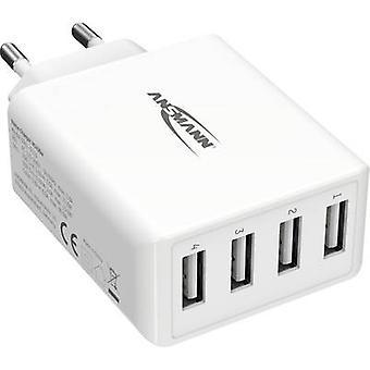 Ansmann HomeCharger HC430 1001-0113 USB-laddare Nätuttag Max utgångsström 6000 mA 4 x USB 2.0 port A