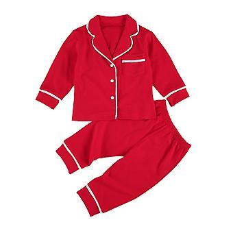 Baby Solid Cotton Sleepwear, Sleepwear Zestawy Dzieci Piżama Bielizna nocna