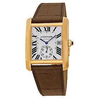 Cartier Tank MC Mechanical 18kt Pink Gold Brown Leather Strap Men's Watch W5330001