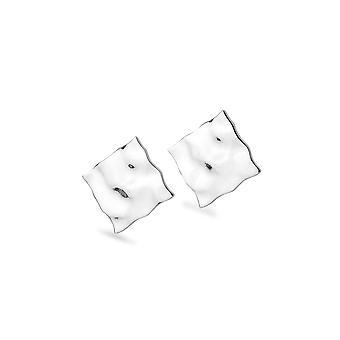 Sterling Silver Stud Earrings - Origins Rippled Diamond