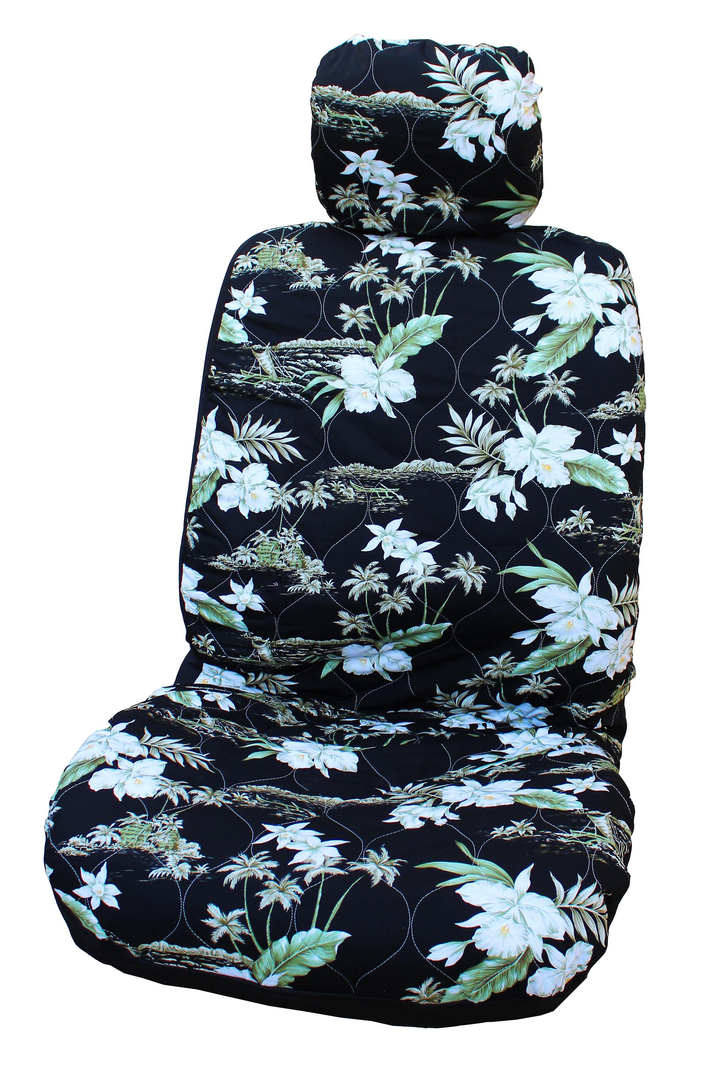 Side Airbag Optional; Orchid Hawaiian Hawaiian Car Seat Covers