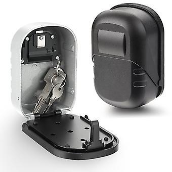 Wall Mounted Key Lock Box Aluminum alloy Key Safe Box 4 Digit Combination Key Storage Lock Box Indoor Outdoor Keys Storage Box