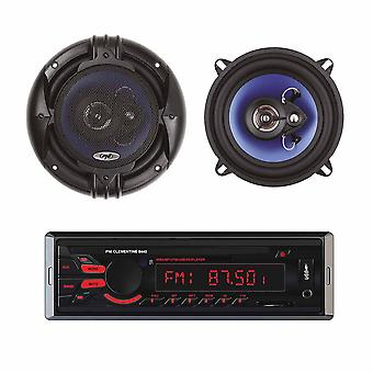 Package Radio MP3 car player PNI Clementine 8440 4x45w + Coaxial car speakers PNI HiFi650, 120W, 16.5 cm