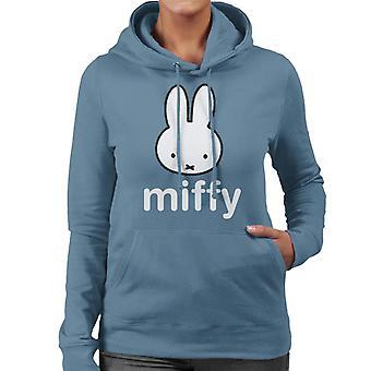 Miffy Karakter Head Kvinder 's Hætteklædte Sweatshirt