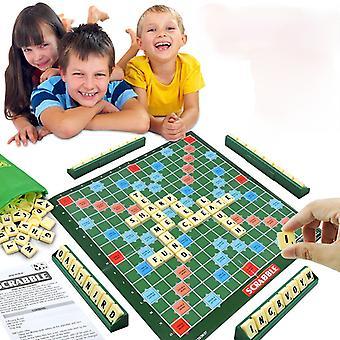 Lasten lauta tavauspöytä Lasten koulutus lelut Englanti Scrabble Pelit Lasten ristisanatehtävät Mielenkiintoinen Scrabble Kit