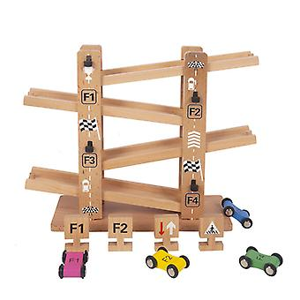 Wooden Kids Race Track Toys Vehicle Playsets Cars Toys