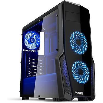 FengChun - PC-Gehäuse Gaming WarFare Schwarz LED-Leuchte Blau: USB 3.0, 3 Lüfter LED-Leuchte 120 mm,