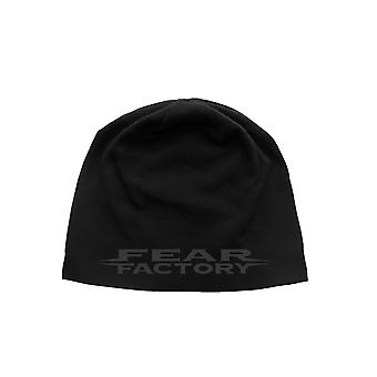 Fear Factory Beanie Hat cap Distressed band Logo new Official Black jersey