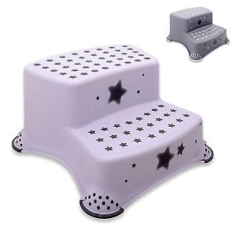 Lorelli dos etapas baño de dos etapas taburete estrellas taburete de goma golpes antideslizantes