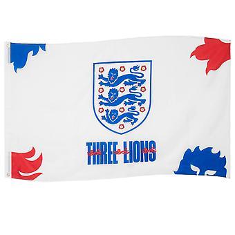 英格兰足总国旗 5x3 英尺 3 狮子峰官方足球礼物