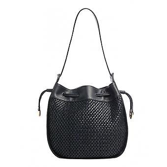Bag Woman Liu-jo Shopping Hobo M Ecopelle Weave Midnight Blue Bs21lj86 Aa1267