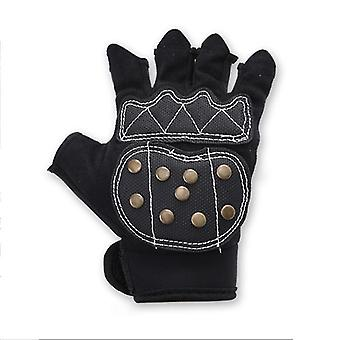 2Pcs xs kids professional roller skating gloves with braking copper nails cai709