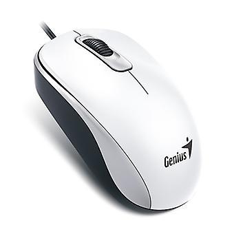 Genius DX-110 fehér USB teljes méretű optikai egér