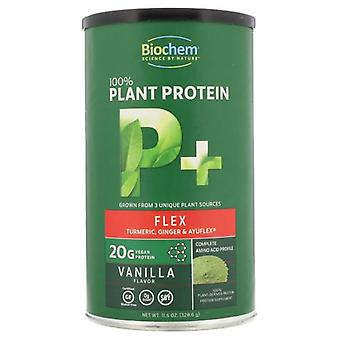 Biochem 100٪ بروتين نباتي + فليكس، نكهة فانيلا 11.6 أوقية