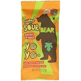 Bear Yoyo Snack Yoyo Sour Mngo Aple, Cas de 6 X 3,5 Oz