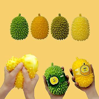 1PCS Durian Fruits Filled Squeeze Stress Balls Sensory Fidget Toys (Random Color)