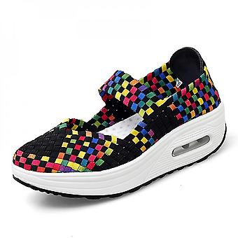 Large Size Air Cushion Woven Shoes Unisex