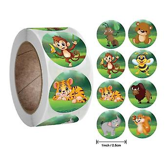 50-500pcs Zoo Animals Cartoon Stickers For Kids Classic Toys