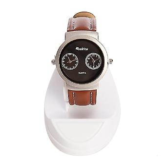 Nectar Wrist Watch, Men's Watch, Sport Wrist Watch, 3 ATM Water Resistant, 2 Years Guaranteed, Brown Leather Strap