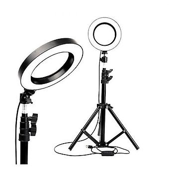 26cm Ring Light With Tripod Ring Light With Phone Holder And Remote Control With 3 Light Modes