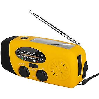 1000mah Solar Emergency Radio - Amfmwb Weather Radio Hand Crank Radio Avec 3