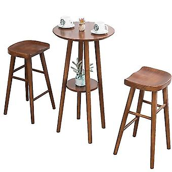 Fashion Solid Creative Leisure Wood Table Chair - Home Bar
