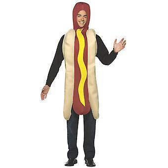 Hot Dog salchicha barbacoa comida rápida divertido hombres traje OS