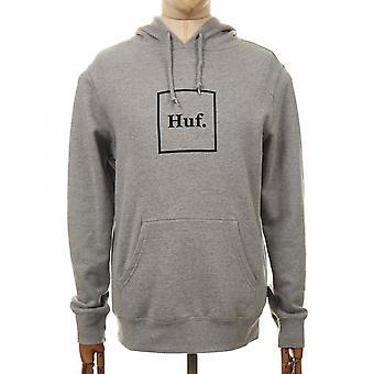 Huf Box Logo Hooded Sweatshirt - Grey Heather