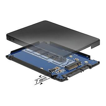 """DeLOCK 22-benet SATA til m.2 (NGFF) converter, 2.5 """", 6 GB/s"""