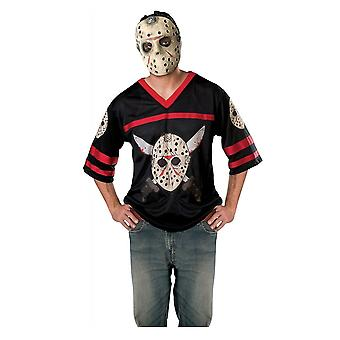 Jason Voorhees Hockey Jersey Friday The 13th Horror Film Männer Kostüm