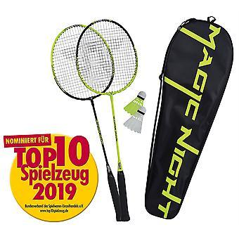 Talbot Torro 2 Magic Night Badminton Set - 2 Robust Rackets 2 LED Shuttlecocks