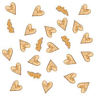 Coriandoli di legno Hearts & Krafts