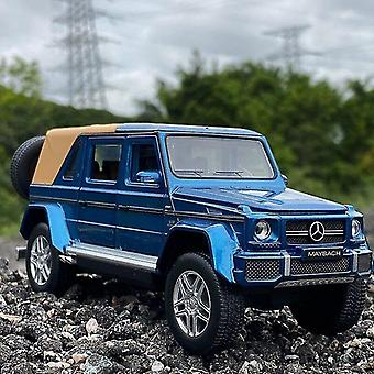 Toy cars 1/32 benz g650 refit pickup truck alloy car model off road vehicle toy die casts metal toy car model