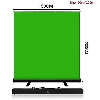 Pynsseu 150cm * 200cm tło składane zielony ekran chromakey tło pull-up stojak na youtube